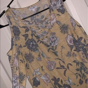 Tops - Yellow floral long sleeve